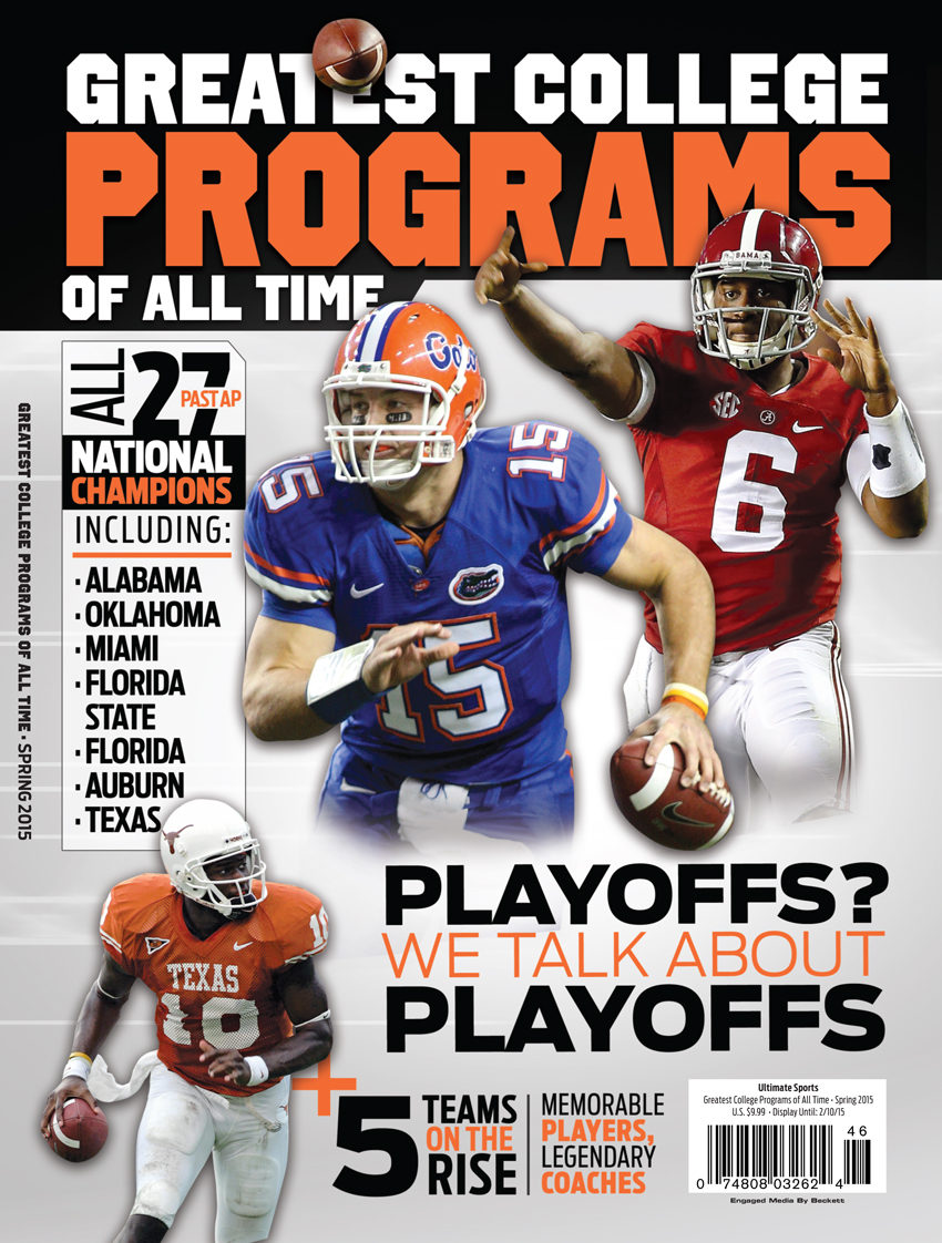 25 Greatest College Football Programs  South Spr 2015
